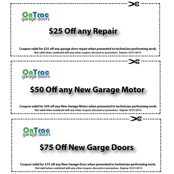 Nashville Garage Door Service Discount Coupons