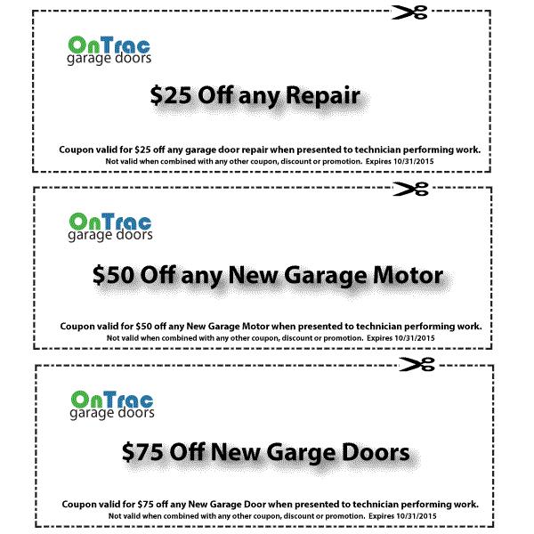 Nashville Garage Door Service Discount Coupons